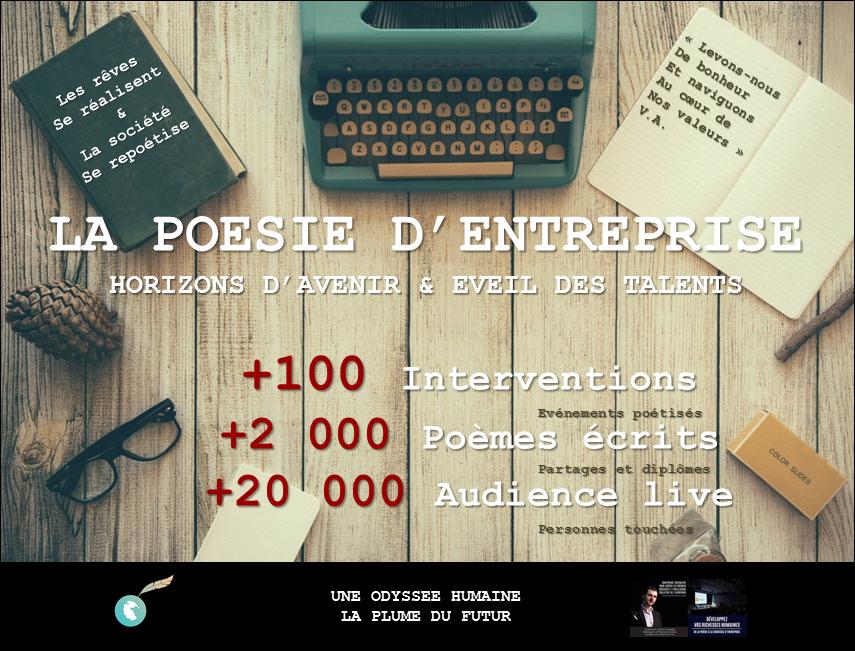 Poesie entreprise Stats 102