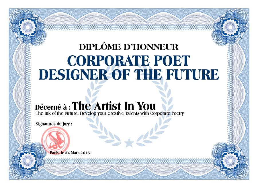 Diploma Corporate Poet